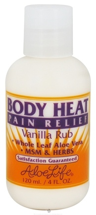 DROPPED: Aloe Life - Body Heat Pain Relief Vanilla Rub - 4 oz. CLEARANCE PRICED