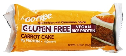 NuGo Nutrition - Gluten Free Bar Carrot Cake - 1.59 oz.