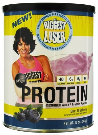 DROPPED: Designer Protein - Designer Whey The Biggest Loser Protein Powder Blue Blueberry - 10 oz. CLEARANCE PRICED