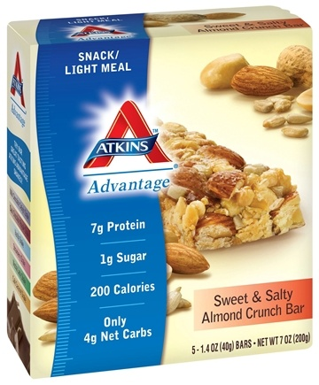 DROPPED: Atkins Nutritionals Inc. - Advantage Bar Sweet & Salty Almond Crunch - 5 Bars