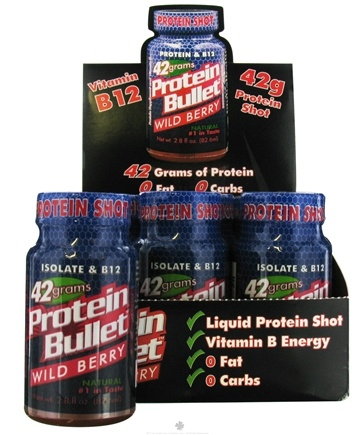 DROPPED: Bullet Nutrition - Protein Bullet 42g Protein Shot Wild Berry - 2.8 oz.