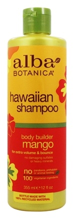 Alba Botanica - Hawaiian Hair Wash Moisturizing Mango - 12 oz.