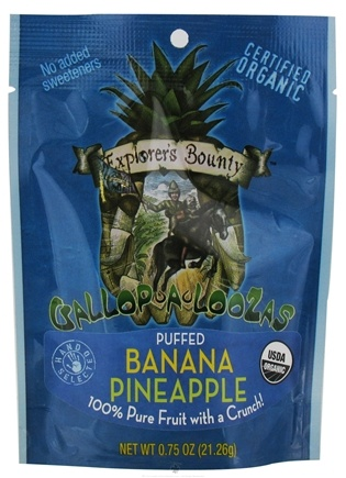 DROPPED: Explorer's Bounty - Organic Gallop A Loozas Puffed Banana Pineapple - 0.75 oz.