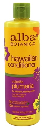 Alba Botanica - Alba Hawaiian Hair Conditioner Colorific Plumeria - 12 oz.