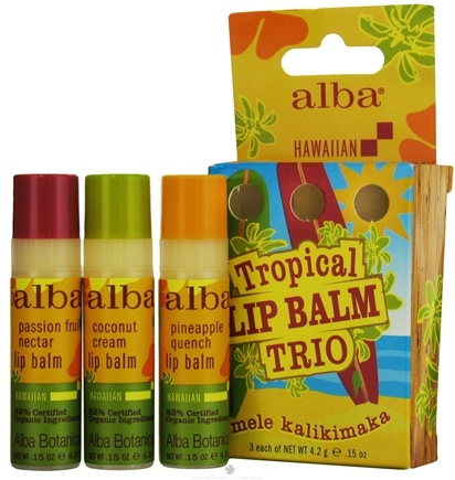 DROPPED: Alba Botanica - Alba Botanica Hawaiian Tropical Lip Balm Trio - 3 Piece(s)