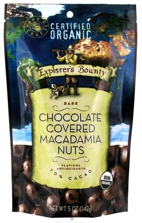 DROPPED: Explorer's Bounty - Dark Chocolate Covered Macadamia Nuts - 5 oz. CLEARANCE PRICED