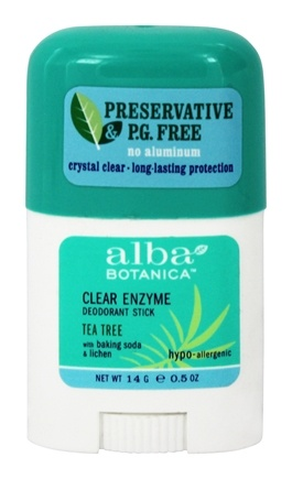 Alba Botanica - Clear Enzyme Deodorant Stick Tea Tree Travel Size - 0.5 oz.