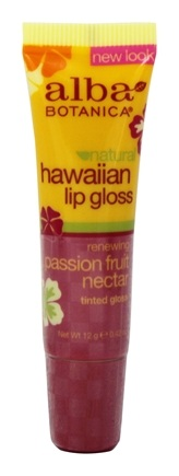 Alba Botanica - Alba Hawaiian Clear Lip Gloss Passion Fruit Nectar - 0.42 oz.