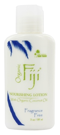 Organic Fiji - Nourishing Lotion Virgin Coconut Oil Fragrance Free - 3 oz.