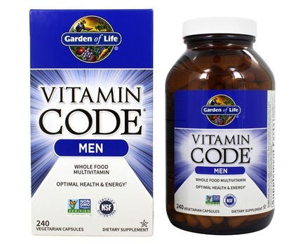 Garden of Life - Vitamin Code RAW Men's Multi Formula - 240 Vegetarian Capsules