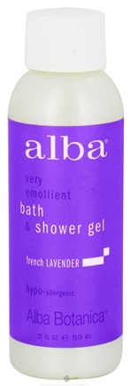 DROPPED: Alba Botanica - Very Emollient Bath & Shower Gel Travel Size French Lavender - 2 oz. CLEARANCE PRICED
