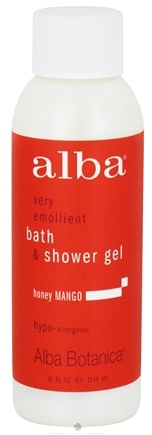 DROPPED: Alba Botanica - Very Emollient Bath & Shower Gel Travel Size Honey Mango - 2 oz. CLEARANCE PRICED