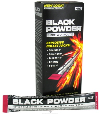 DROPPED: MRI: Medical Research Institute - Black Powder Pre Workout Bullet Pack Fruit Explosion - 10 Pack(s) CLEARANCE PRICED