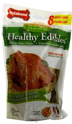DROPPED: Nylabone - Healthy Edibles Natural Petite Turkey & Rice Flavor - CLEARANCE PRICED