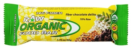 Organic Food Bar - Raw Fiber Chocolate Delite - 1.76 oz.