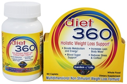 DROPPED: Garden of Life - Diet 360 Holistic Weight Loss Support - 90 Caplets