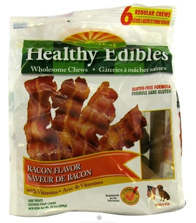 DROPPED: Nylabone - Healthy Edibles Natural Bacon Flavor - 6 Chewables CLEARANCE PRICED