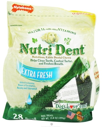 DROPPED: Nylabone - Nutri Dent Edible Dental Chews Small Extra Fresh - 28 Chewables CLEARANCE PRICED