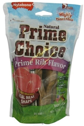 DROPPED: Nylabone - Prime Choice Large Prime Rib - 5 Chewables CLEARANCE PRICED