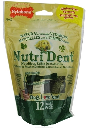 DROPPED: Nylabone - Nutri Dent Edible Dental Chews Gluten-Free Small - 12 Chewables CLEARANCE PRICED