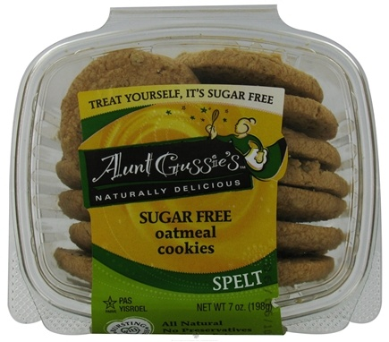 DROPPED: Aunt Gussie's - Spelt Cookies Sugar Free Oatmeal - 7 oz.