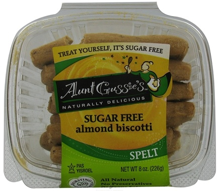 DROPPED: Aunt Gussie's - Spelt Biscotti Sugar Free Almond - 8 oz. CLEARANCE PRICED