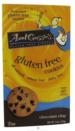 DROPPED: Aunt Gussie's - Gluten Free Cookies Chocolate Chip - 6 oz.
