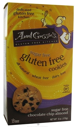 DROPPED: Aunt Gussie's - Gluten Free Cookies Sugar Free Chocolate Chip Almond - 6 oz.