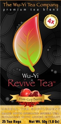 DROPPED: Wu-Yi Tea Company - Wu-Yi Revive Tea Pom-Goji Berry - 25 Tea Bags CLEARANCE PRICED