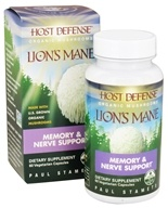 Fungi Perfecti - Host Defense Lion's Mane Brain & Nerve Support - 60 Vegetarian Capsules