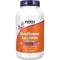 NOW Foods - Sunflower Lecithin 1200 mg. - 200 Softgels