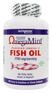 Nutramax Labs - Omega Mint Purified Omega-3 Fish Oil Heart Health Supplement Natural Peppermint Flavor 1750 mg. - 100 Softgels