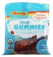Tasty Brand - Organic Gummy Fruit Snacks Bag Mixed Fruit Flavors - 2.75 oz.