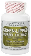 Amino Acid & Botanical - Green-Lipped Mussel Extract 500 mg. - 60 Capsules