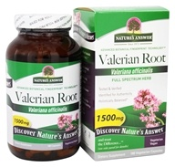 Nature's Answer - Organic Valerian Root - 180 Vegetarian Capsules