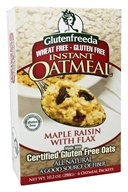 Glutenfreeda - Instant Oatmeal Maple Raisin with Flax 6 Packets - 10.5 oz.