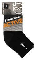 Incrediwear - Bamboo Charcoal Socks Above Ankle Sports Large Black