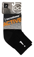 Incredisocks - Bamboo Charcoal Socks Above Ankle Sports Large Black