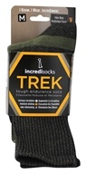 Incrediwear - Bamboo Charcoal Socks Hiking Tall Medium Green/Grey