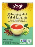 Yogi Tea - Vital Energy with Organic Peppermint Leaf Refreshing Mint - 16 Tea Bags