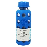 Lifefactory - Glass Beverage Bottle With Silicone Sleeve Ocean Blue - 9 oz.