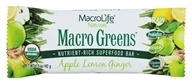 MacroLife Naturals - Macro Greens Nutrient-Rich Superfood Bar Apple Lemon Ginger - 1.5 oz.