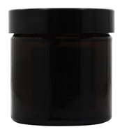 Sanctum Aromatherapy - Amber Glass Cream Jar with Black Screw On Lid - 60 ml.