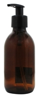 Sanctum Aromatherapy - Amber Glass Bottle with Black Lotion Pump & Cap - 200 ml.