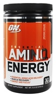 Optimum Nutrition - Essential AmiN.O. Energy Orange Cooler 30 Servings - 9.5 oz.