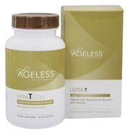 Ageless Foundation - Ultra T Gold All-Natural Free Testosterone Booster - 60 Vegetarian Capsules