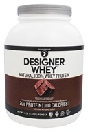 Designer Protein - Designer Whey Natural 100% Whey-Based Protein Powder Double Chocolate - 4 lbs.