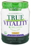 Green Foods - True Vitality Plant Protein Shake with DHA Vanilla - 25.2 oz.
