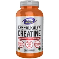 NOW Foods - Kre-Alkalyn Creatine - 240 Capsules