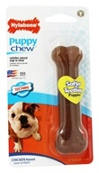 Nylabone - Puppy Chew Bone Regular For Teething Puppies Up To 25 lbs. Chicken Flavored